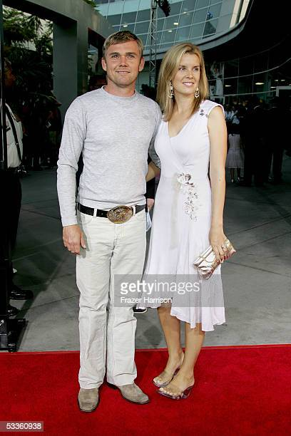 Actor Rick Schroder and his wife Andrea Bernard arrive at the premiere of Universal Studios 'The 40 YearOld Virgin' at Arclight Hollywood on August...