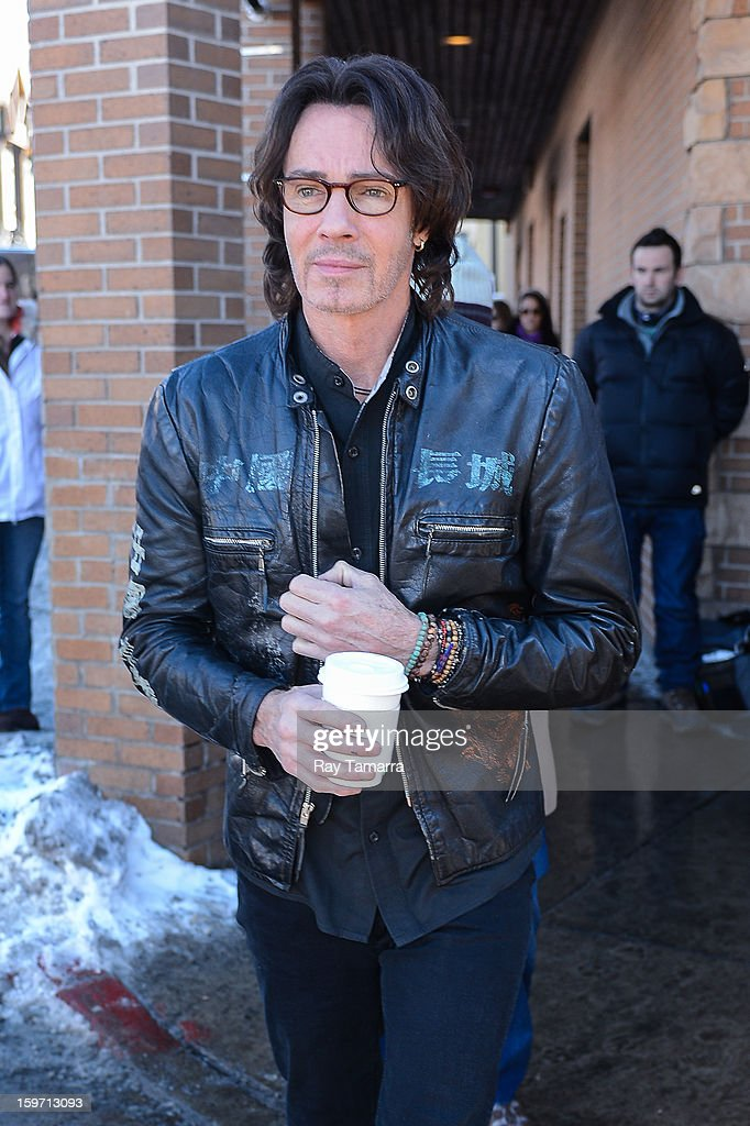 Actor <a gi-track='captionPersonalityLinkClicked' href=/galleries/search?phrase=Rick+Springfield&family=editorial&specificpeople=242775 ng-click='$event.stopPropagation()'>Rick Springfield</a> leaves the Entertainment Weekly portrait studio on January 18, 2013 in Park City, Utah.