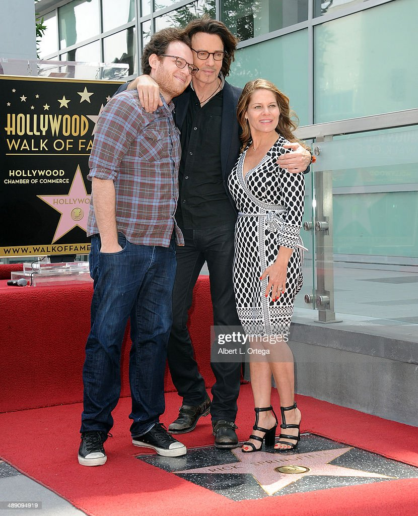 Actor Rick Springfield, son Joshua Springthorpe and wife Barbara Porter attend the ceremony honoring Rick Springfield with a Star on The Hollywood Walk of Fame on May 9, 2014 in Hollywood, California.