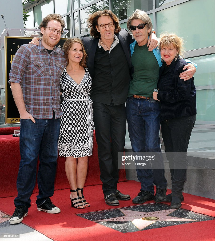 Actor Rick Springfield, son Joshua Springthorpe, wife Barbara Porter and brother Mike Springthorpe attend the ceremony honoring Rick Springfield with a Star on The Hollywood Walk of Fame on May 9, 2014 in Hollywood, California.