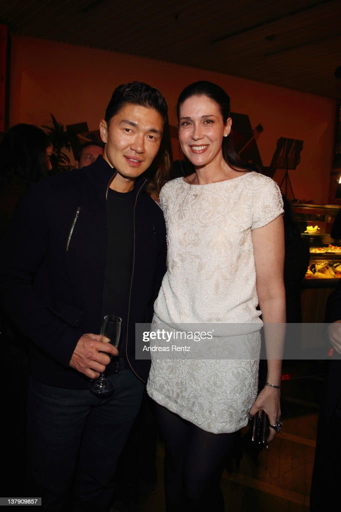 Actor Rick Yune and Nathalie von Bismarck attend the 'Lambertz Monday Night' Pre-Dinner on January 29, 2012 in Cologne, Germany.