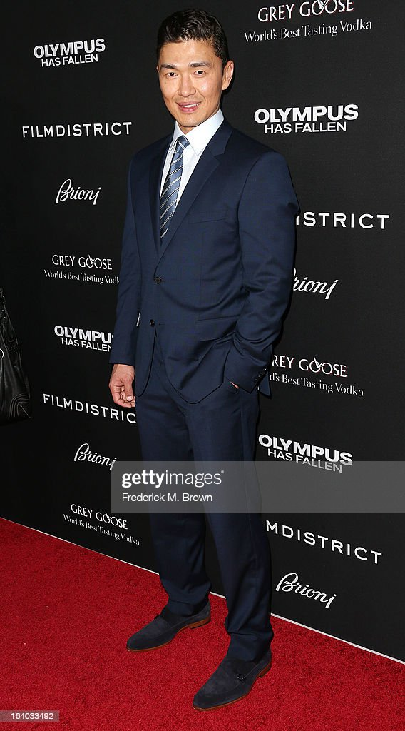 Actor Rick Yune attends the Premiere of FilmDistrict's 'Olympus Has Fallen' at the ArcLight Cinemas Cinerama Dome on March 18, 2013 in Hollywood, California.
