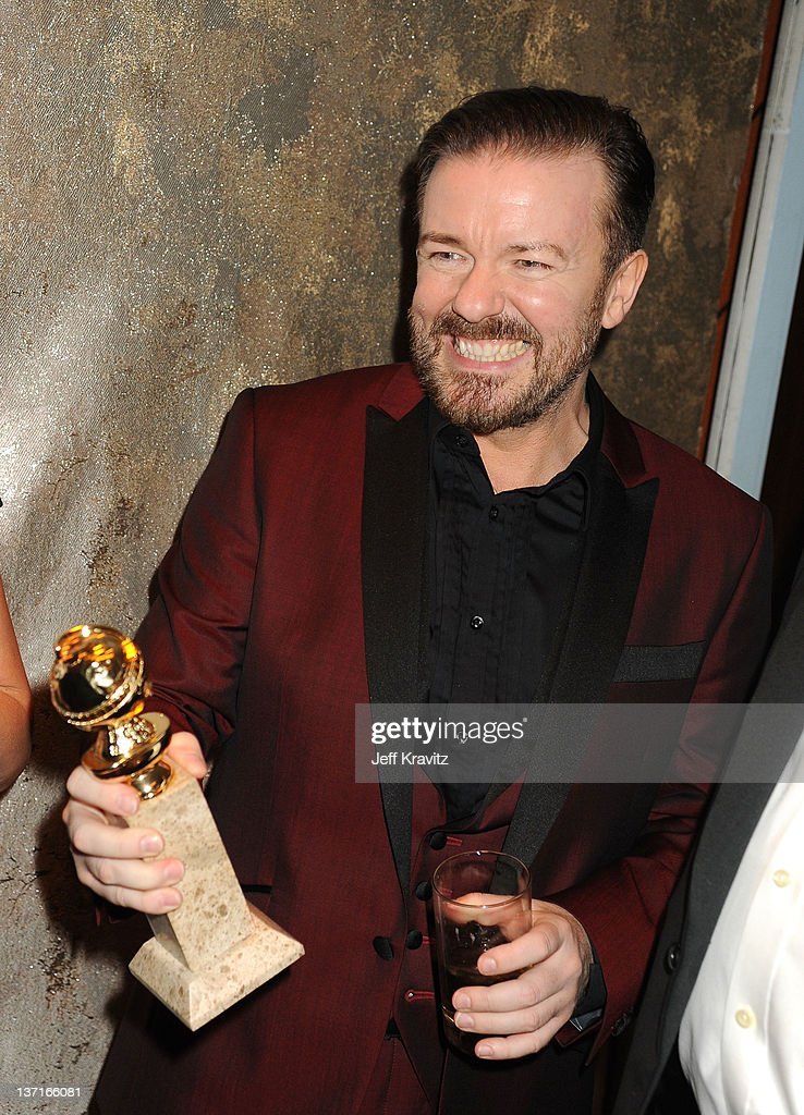Actor Ricky Gervais attends HBO's Official After Party for the 69th Annual Golden Globe Awards held at The Beverly Hilton hotel on January 15 2012 in...