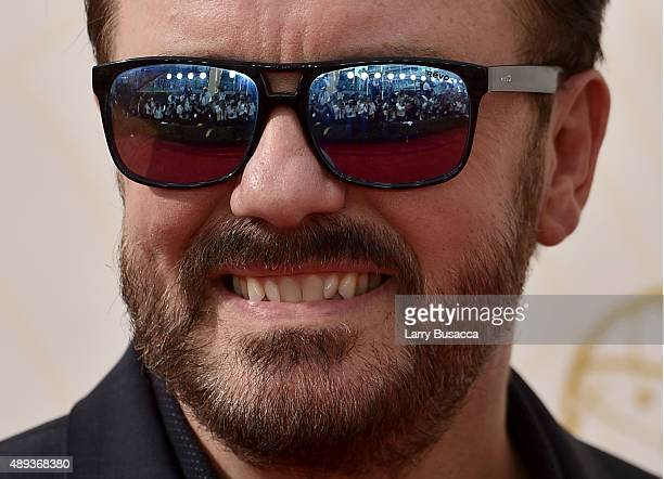 Actor Ricky Gervais attends the 67th Annual Primetime Emmy Awards at Microsoft Theater on September 20 2015 in Los Angeles California