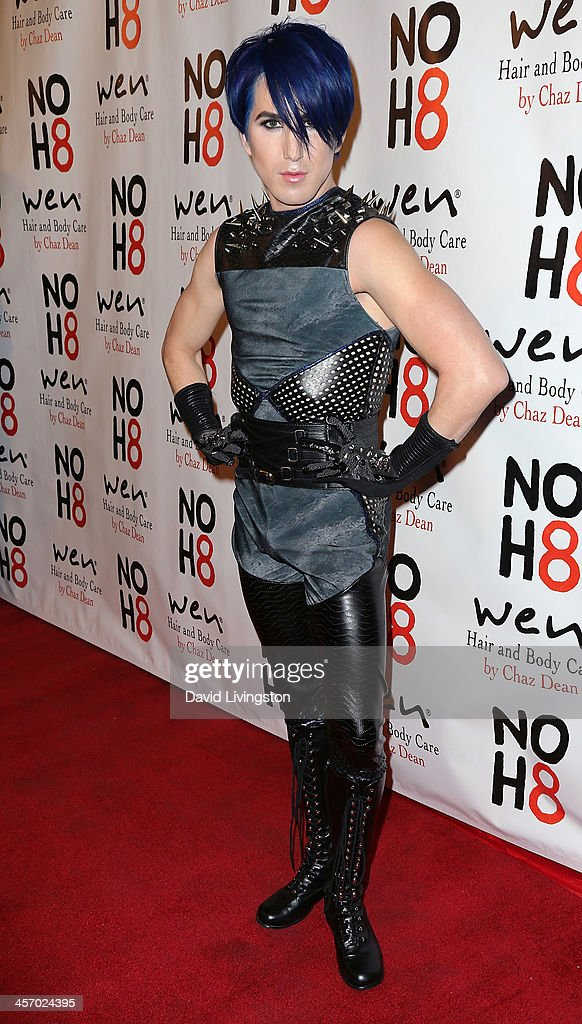 Actor Ricky Rebel attends the NOH8 Campaign 5th Anniversary Celebration at Avalon on December 15, 2013 in Hollywood, California.