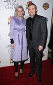 Actor Ricky Schroder and wife Andrea Bernard attend the premiere of 'Dolly Parton's Coat Of Many Colors' at the Egyptian Theatre on December 2 2015...