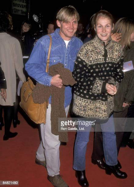 Actor Ricky Schroder and wife Andrea Bernard attend the 'Turbulance' Hollywood Premiere on January 6 1997 at Mann's Chinese Theatre in Hollywood...