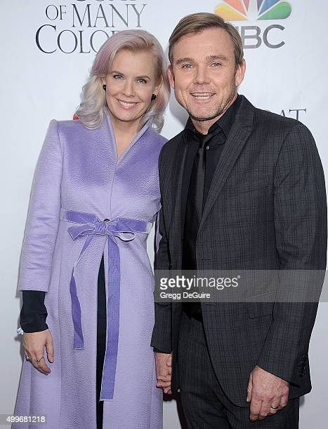 Actor Ricky Schroder and wife Andrea Bernard Schroder arrive at the premiere of Warner Bros Television's 'Dolly Parton's Coat Of Many Colors' at the...