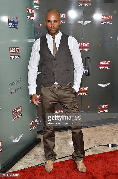Actor Ricky Whittle arrives at the GREAT British Film Reception at The London West Hollywood on February 20 2015 in West Hollywood California