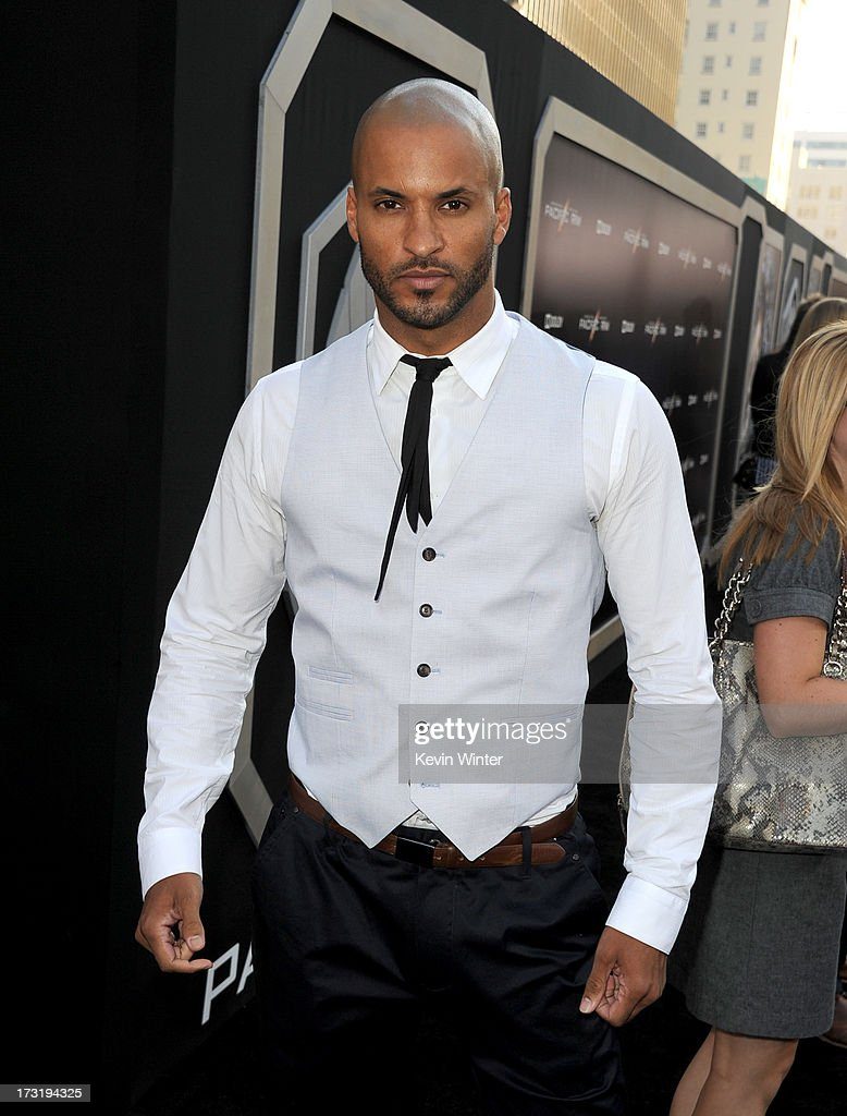 Actor Ricky Whittle arrives at the premiere of Warner Bros. Pictures' and Legendary Pictures' 'Pacific Rim' at Dolby Theatre on July 9, 2013 in Hollywood, California.