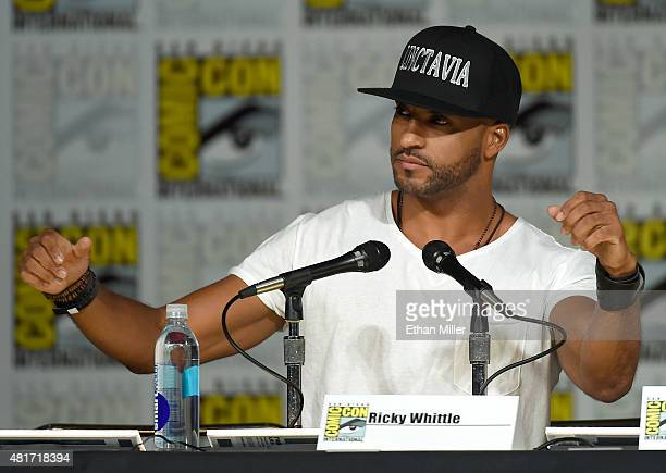 Actor Ricky Whittle attends a special video presentation and panel for 'The 100' during ComicCon International 2015 at the San Diego Convention...
