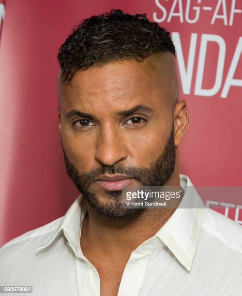 Actor Ricky Whittle attends SAGAFTRA Foundation's Conversations with 'American Gods' at SAGAFTRA Foundation Screening Room on June 7 2017 in Los...