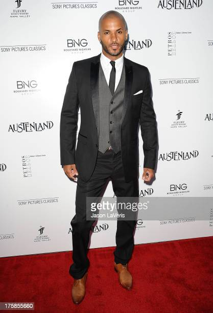Actor Ricky Whittle attends the premiere of 'Austenland' at ArcLight Hollywood on August 8 2013 in Hollywood California