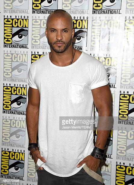 Actor Ricky Whittle attends the 'The 100' press room during ComicCon International 2015 at the Hilton Bayfront on July 10 2015 in San Diego California