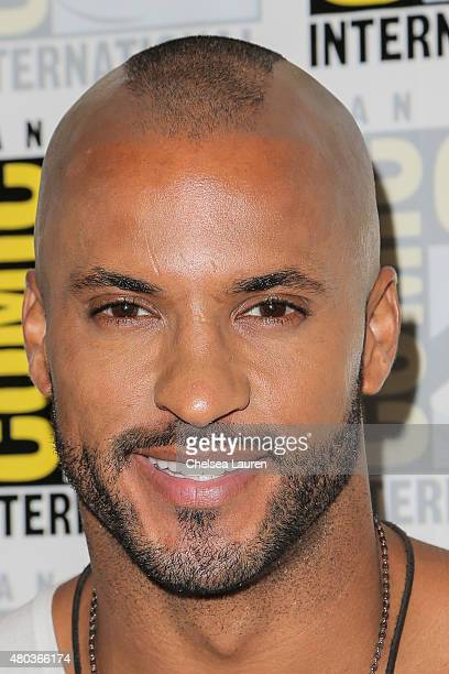 Actor Ricky Whittle attends the 'The 100' press room during day 2 of ComicCon International on July 10 2015 in San Diego California