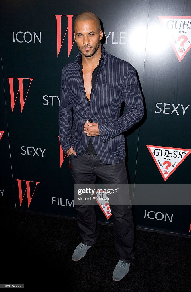 Actor <a gi-track='captionPersonalityLinkClicked' href=/galleries/search?phrase=Ricky+Whittle&family=editorial&specificpeople=3358286 ng-click='$event.stopPropagation()'>Ricky Whittle</a> attends W Magazine and Guess celebrating 30 years of fashion and film and the next generation of style icons at Laurel Hardware on January 8, 2013 in West Hollywood, California.