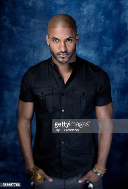 Actor Ricky Whittle of 'American Gods' is photographed for Los Angeles Times at San Diego Comic Con on July 22 2016 in San Diego California