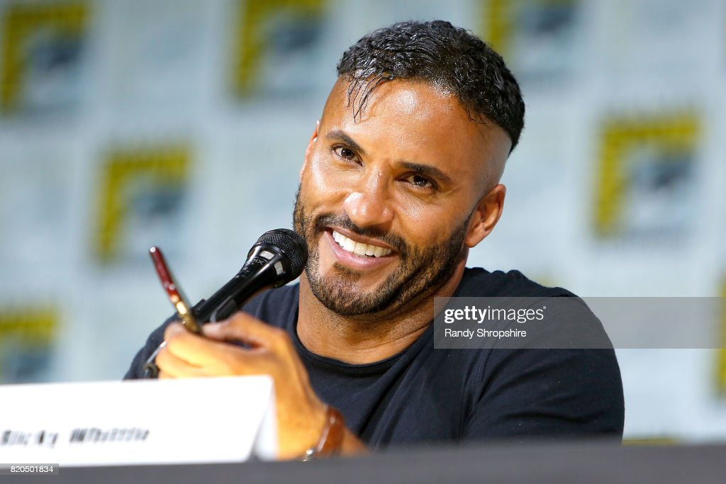 Actor Ricky Whittle speaks on stage during Entertainment Weekly's 'Brave New Warriors' Panel at San Diego Comic-Con 2017 at San Diego Convention Center on July 21, 2017 in San Diego, California.