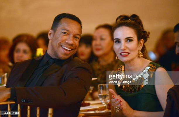 Actor Rico E Anderson and acrtress Vida Ghaffari at the 2017 Entrepreneur Awards held at Allure Events And Catering on February 22 2017 in Van Nuys...