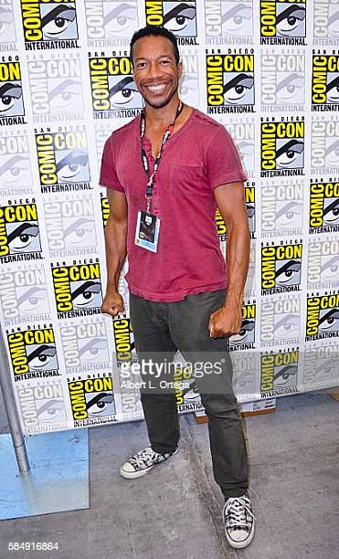 Actor Rico E Anderson attends ComicCon International 2016 at San Diego Convention Center on July 22 2016 in San Diego California