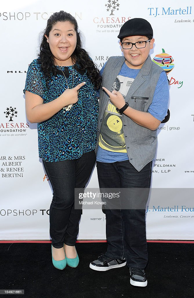 Actor Rico Rodriguez (R) and actress Raini Rodriguez attend The T.J. Martell Foundation 4th Annual Family Day LA on October 28, 2012 in Los Angeles, California.