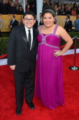 Actor Rico Rodriguez and actress/singer Raini Rodriguez arrives at the 19th Annual Screen Actors Guild Awards held at The Shrine Auditorium on...