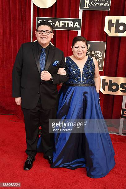 Actor Rico Rodriguez and Raini Rodriguez attend The 23rd Annual Screen Actors Guild Awards at The Shrine Auditorium on January 29 2017 in Los Angeles...