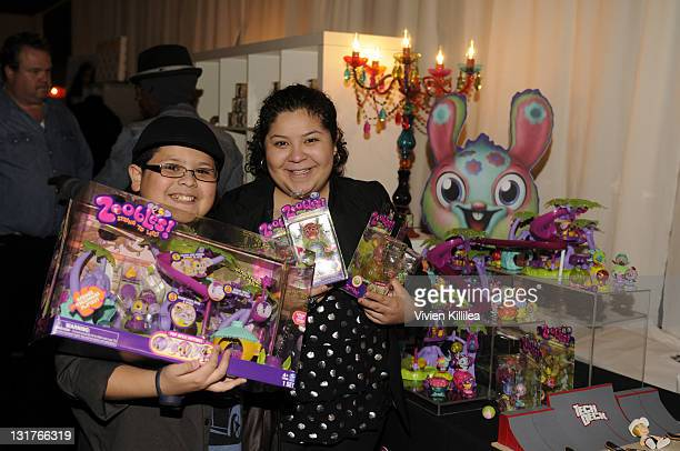 Actor Rico Rodriguez and Raini Rodriguez attend the Official AMA Backstage Boutique day 1 at LA Live on November 19 2010 in Los Angeles California