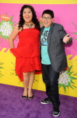 Actor Rico Rodriguez and sister Raini Rodriguez arrive at Nickelodeon's 26th Annual Kids' Choice Awards at USC Galen Center on March 23 2013 in Los...