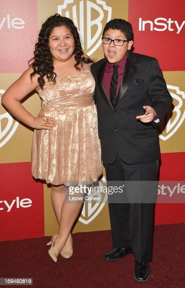 Actor Rico Rodriguez and sister Raini Rodriguez attend the 2013 InStyle and Warner Bros 70th Annual Golden Globe Awards PostParty held at the Oasis...
