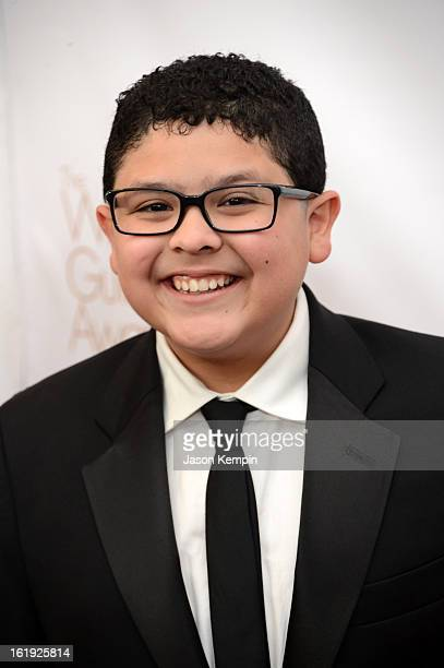 Actor Rico Rodriguez arrives at the 2013 WGAw Writers Guild Awards at JW Marriott Los Angeles at LA LIVE on February 17 2013 in Los Angeles California