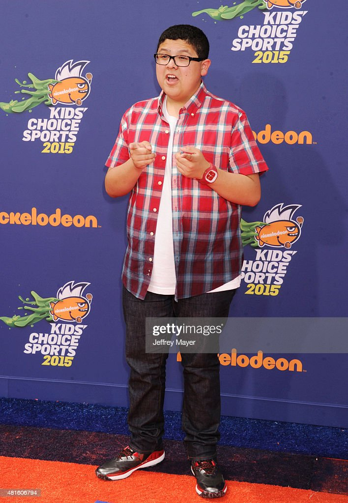 Actor Rico Rodriguez arrives at the Nickelodeon Kids' Choice Sports Awards 2015 at UCLA's Pauley Pavilion on July 16 2015 in Westwood California