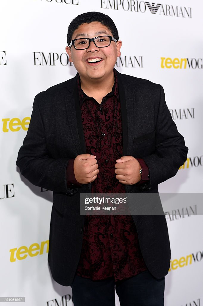 Actor Rico Rodriguez attends Teen Vogue Celebrates the 13th Annual Young Hollywood Issue with Emporio Armani on October 2 2015 in Beverly Hills...