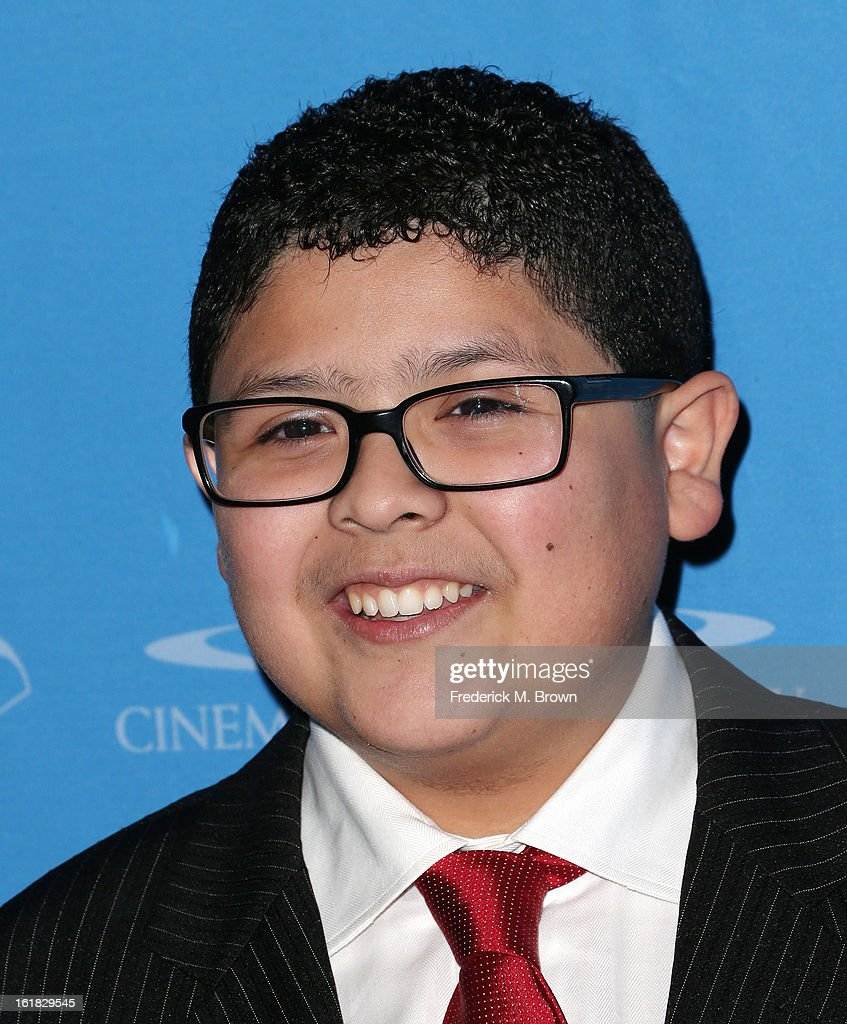 Actor Rico Rodriguez attends the 49th Annual Cinema Audio Society Awards 'CAS' at the Millennium Biltmore Hotel on February 16, 2013 in Los Angeles, California.