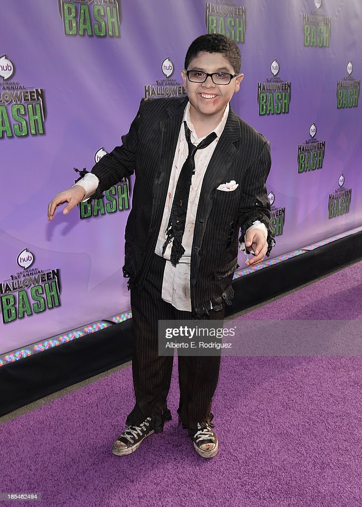 Actor Rico Rodriguez attends the Hub Network's 1st Annual Halloween Bash at Barker Hangar on October 20, 2013 in Santa Monica, California.