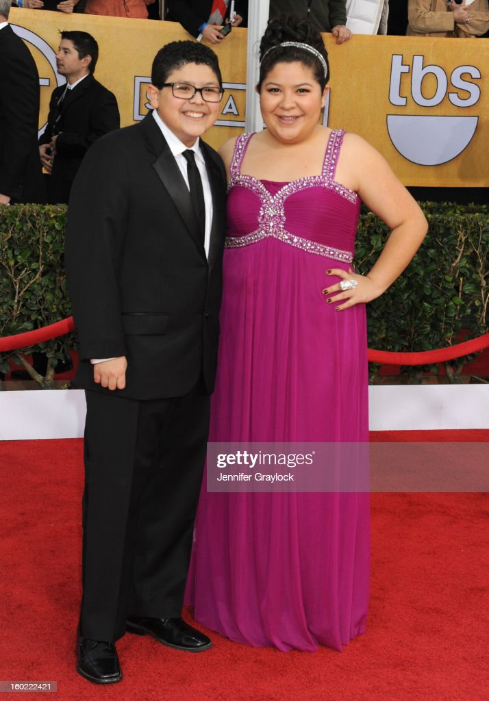 Actor Rico RodriguezActress Raini Rodriguez arrives at the 19th Annual Screen Actors Guild Awards held at The Shrine Auditorium on January 27, 2013 in Los Angeles, California.