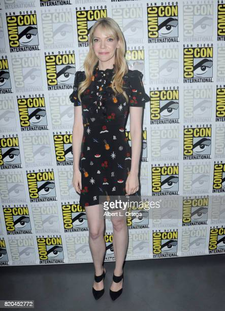 Actor Riki Lindhome attends ComicCon International 2017 'The Big Bang Theory' panel at San Diego Convention Center on July 21 2017 in San Diego...