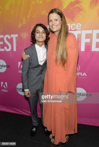 Actor Rio Mangini and director Marianna Palka attends 2017 Sundance NEXT FEST at The Theater at The Ace Hotel on August 12 2017 in Los Angeles...