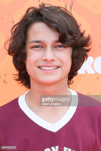 Actor Rio Mangini arrives at the Nickelodeon Kids' Choice Sports Awards 2016 at the UCLA's Pauley Pavilion on July 14 2016 in Westwood California