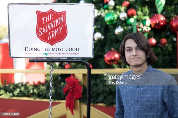 Actor Rio Mangini attends The Salvation Army Celebrity Kettle Kickoff Red Kettle Hollywood at the Original Farmers Market on November 30 2017 in Los...