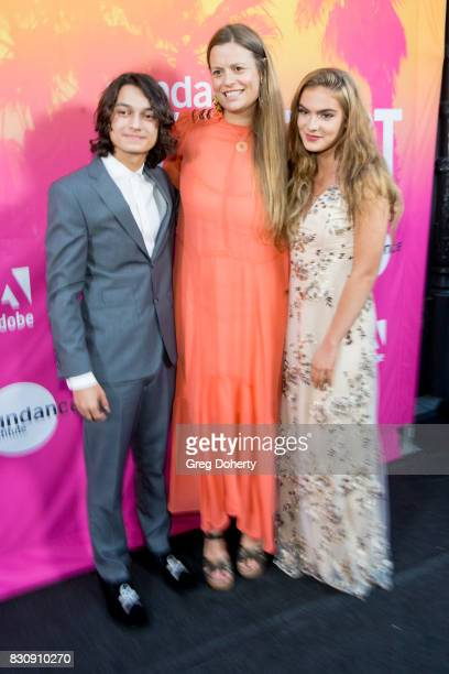 Actor Rio Mangini Director/Writer/Actress Marianna Palka and Actress Brighton Sharbino arrives for the 2017 Sundance NEXT FEST at The Theater at The...