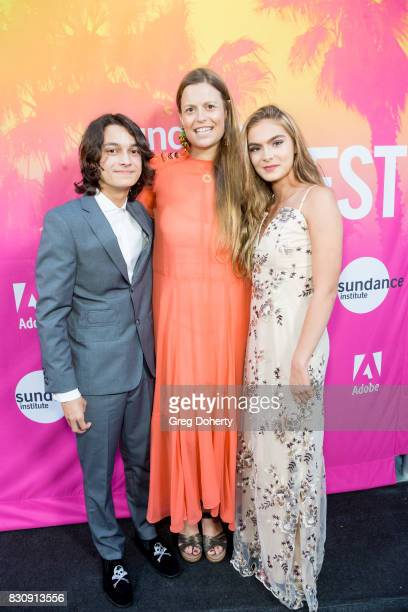 Actor Rio Mangini Director/Writer/Actress Marianna Palka and Actress Brighton Sharbino arrive for the 2017 Sundance NEXT FEST at The Theater at The...