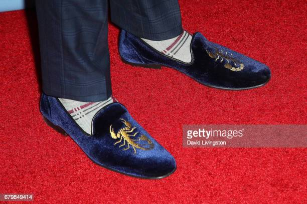Actor Rio Mangini shoe detail attends the screening of Warner Bros Pictures' 'Everything Everything' at the TCL Chinese Theatre on May 6 2017 in...