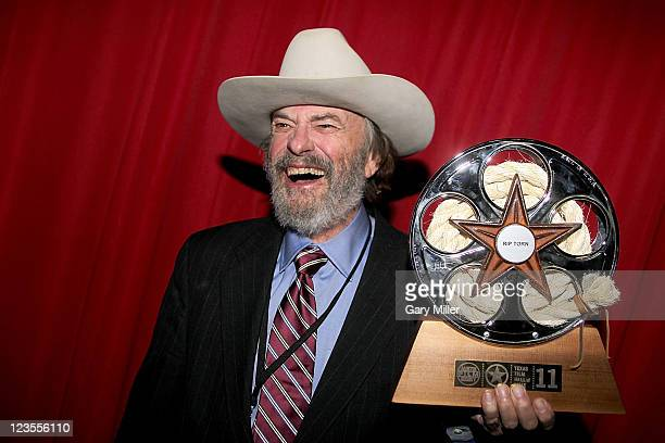 Actor Rip Torn poses backstage during the Texas Film Hall of Fame Awards at Austin Studios on March 10 2011 in Austin Texas