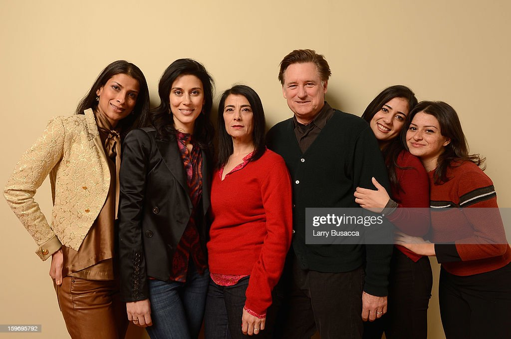 Actor Ritu Singh Pande, filmmaker Cherien Dabis and actors Hiam Abbass, Bill Pullman, Nadine Malouf and Alia Shawkat pose for a portrait during the 2013 Sundance Film Festival at the Getty Images Portrait Studio at Village at the Lift on January 18, 2013 in Park City, Utah.