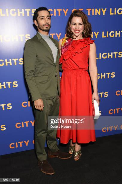 Actor Riz Ahmed and Actress Billie Piper attend the photocall of 'City of Tiny Lights' on March 28 2017 in London United Kingdom