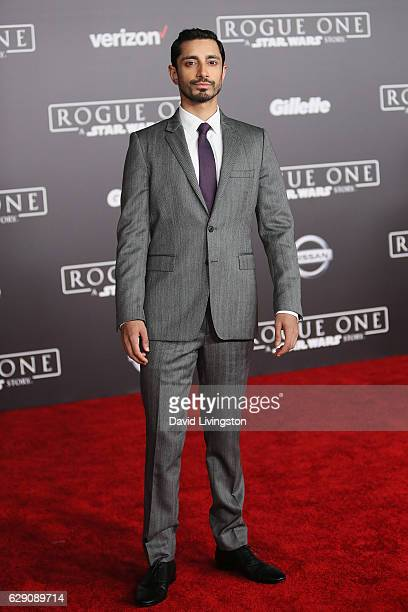 Actor Riz Ahmed arrives at the premiere of Walt Disney Pictures and Lucasfilm's 'Rogue One A Star Wars Story' at the Pantages Theatre on December 10...