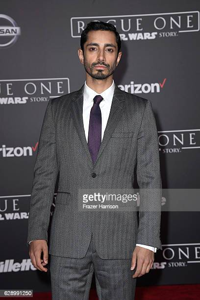 Actor Riz Ahmed attends the premiere of Walt Disney Pictures and Lucasfilm's 'Rogue One A Star Wars Story' at the Pantages Theatre on December 10...
