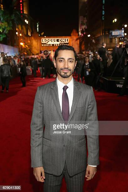 Actor Riz Ahmed attends The World Premiere of Lucasfilm's highly anticipated firstever standalone Star Wars adventure 'Rogue One A Star Wars Story'...