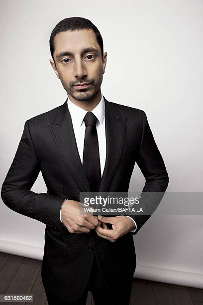 Actor Riz Ahmed poses for a portraits at the BAFTA Tea Party at Four Seasons Hotel Los Angeles at Beverly Hills on January 7 2017 in Los Angeles...